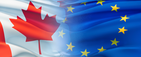 Cdn EU flags
